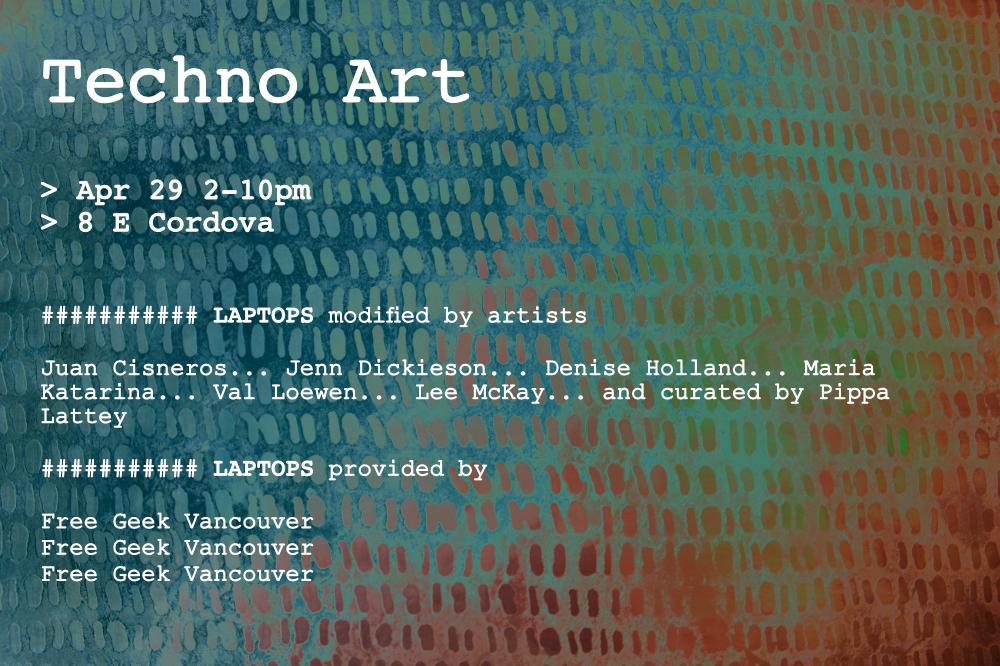 Techno Art Show Poster